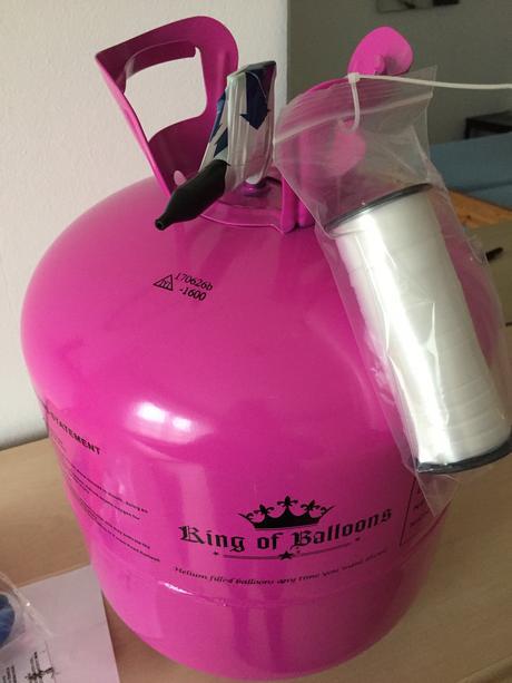 Helium 420l do balónků + 50 balónků,