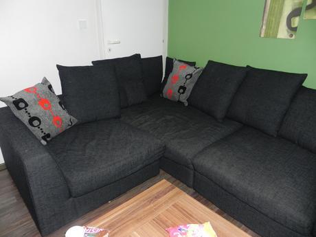Tmavošedo čierny party gauč - znížená cena,