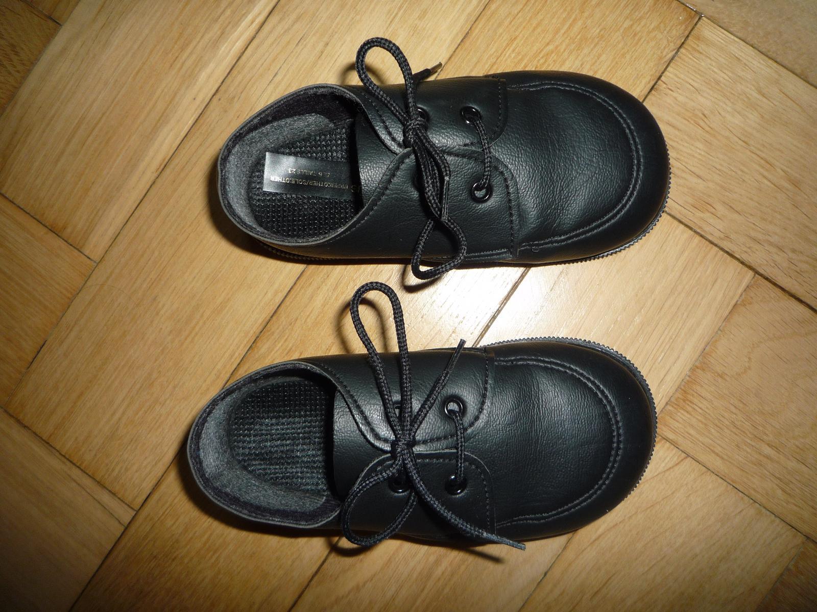 Černe společenské boty b04b663489