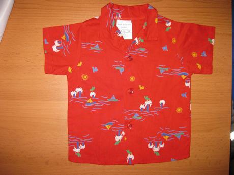 Červená košile vel. 68 , 68