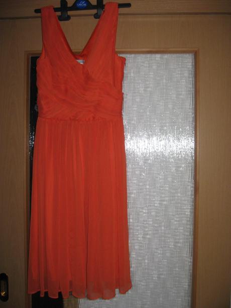 Oranžové šaty vel.34 zn.H&M, 34