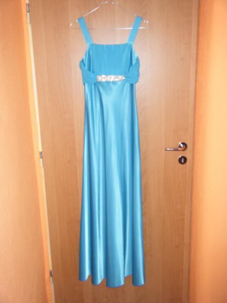 Tyrkysové dlhé šaty, 38