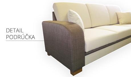 Moderná sedačka s otomanom,