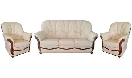 Rustikálna kožená sedačka JÚLIA 3+1+1,