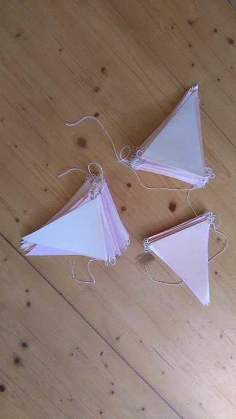 Ivory-lososovo-růžové girlandy, různé délky,