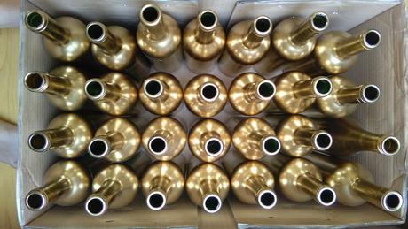 Zlaté velké láhve 19x,