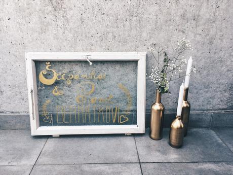 Zlatý a stříbrný fix na sklo,
