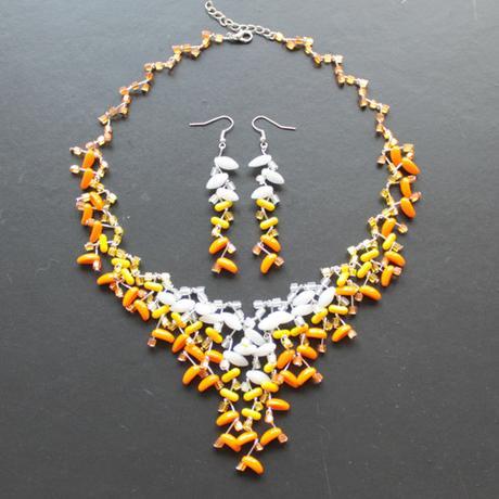 Originální svatební náhrdelník a náušnice ,
