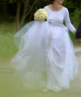 Dlouhá bílá tylová sukně afe8ad6bda