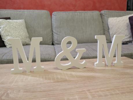 Písmena M & M - výška 12 cm,