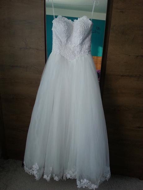 Korzetové svatební šaty, vel. 36-38, 36