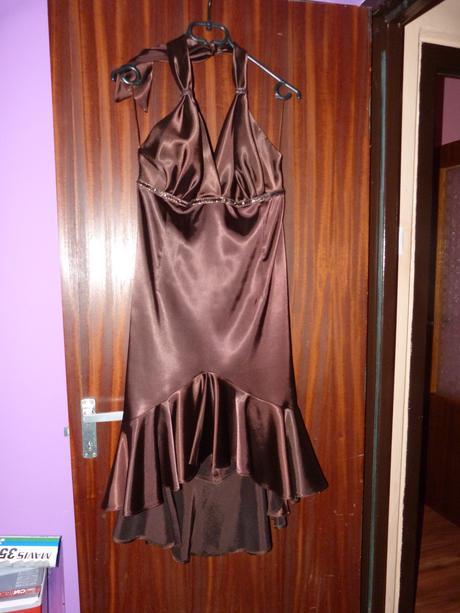 šaty hnedé, 38