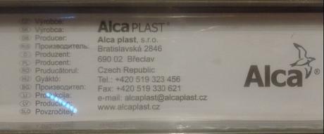 Alca plast Rošt pre líniový podlahový žľab - Buble,