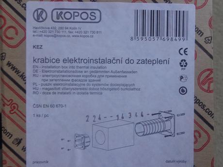 Elektroinštalačná krabica do zateplenia,