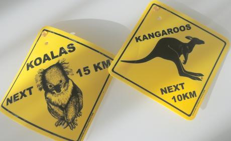Dopravné značky z Austrálie,