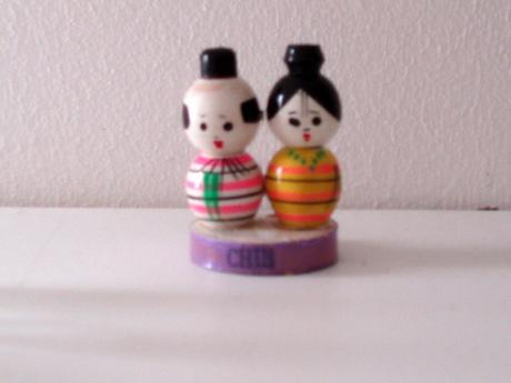 drevené mini postavičky Japonky,