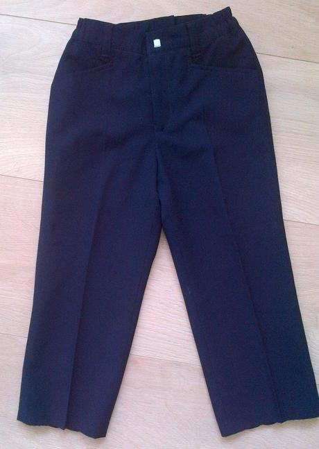Elegantné nohavice s pukmi, 116