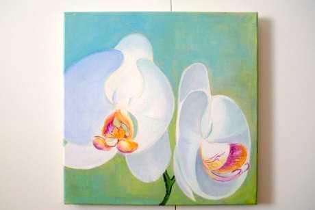 Originál Maľovaný Obraz Orchidea,