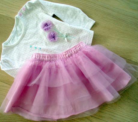 Ružovo fialová sukňa, nátelník zdarma, 92