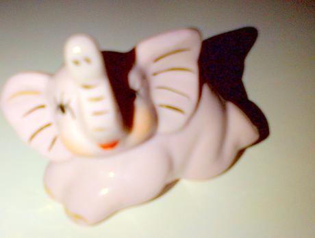 Sloník ružový porcelán,