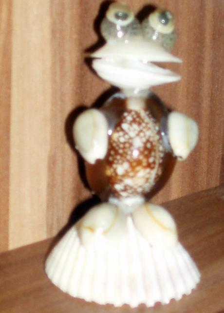 Žabka z mušlí,