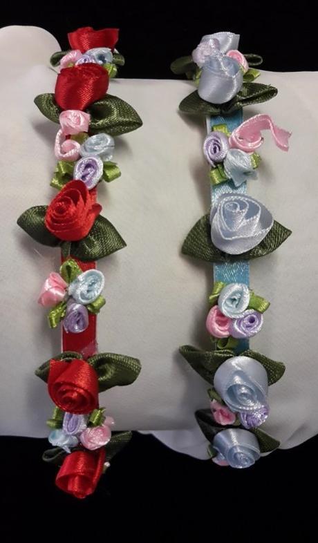 Čelenka pro družičky - saténové růže ,