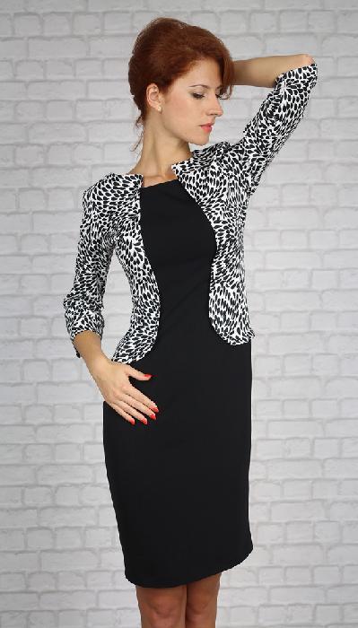 Dámské šaty černobílé velikost 40 a 44, 44