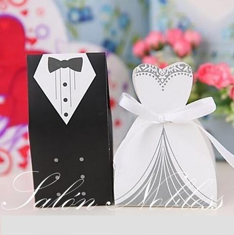 Dárkové krabičky nevěsta a ženich - krabičky pár,