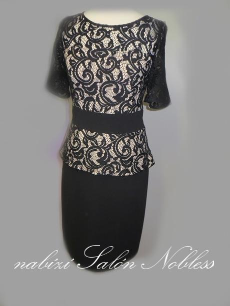 Elegantní šaty Šárka s krajkou pro maminky, 40