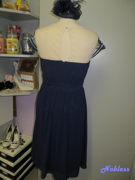 Koktejlové šaty Navy, 42