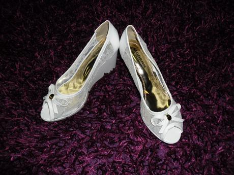 Svatební boty na klínku - poslední pár, 40