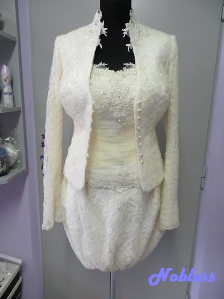 Svatební šaty krátké Pavlína č. 5 - vel. 36-38, 38
