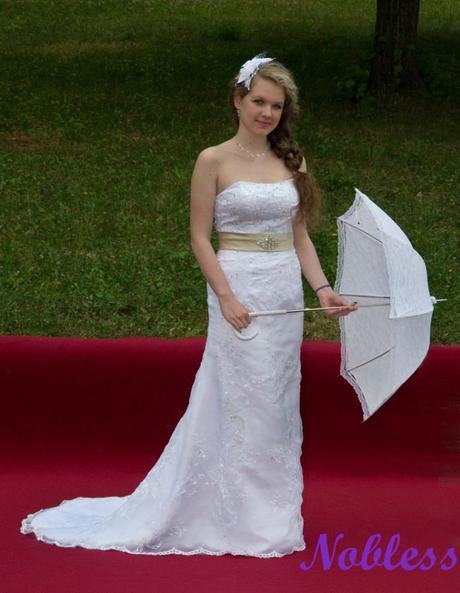 Svatební šaty Tamara č. 176 - výprodej - vel.36-38, 36