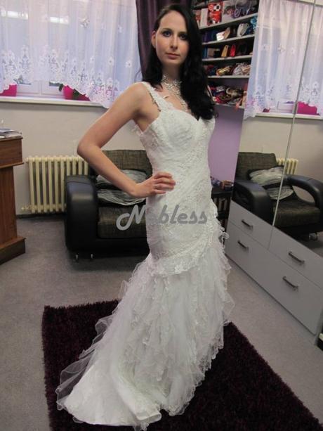 Svatební šaty Versalias - výprodej - vel.40-42, 42