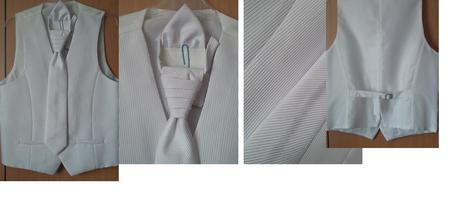 vesta, kravata a vreckovka komplet, 48