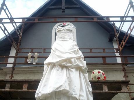 Ramínka na svatební šaty - 2x,