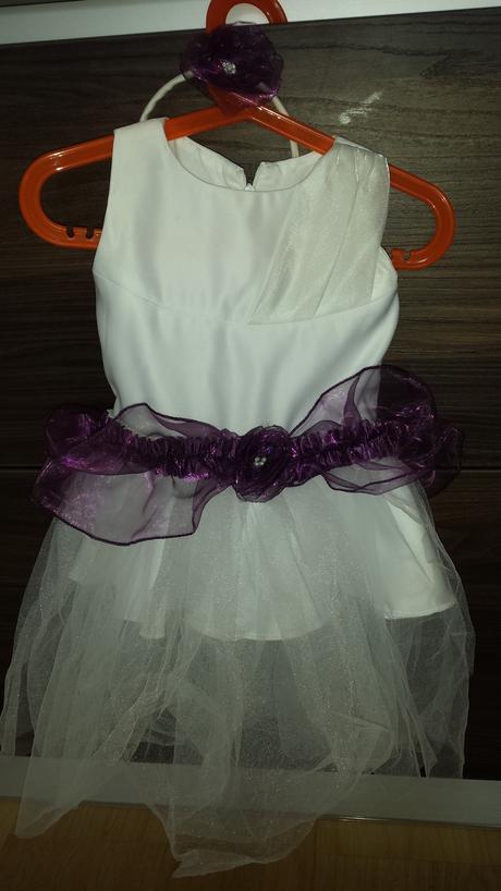 Bílé šaty pro družičku - 1 - 2 roky, 86