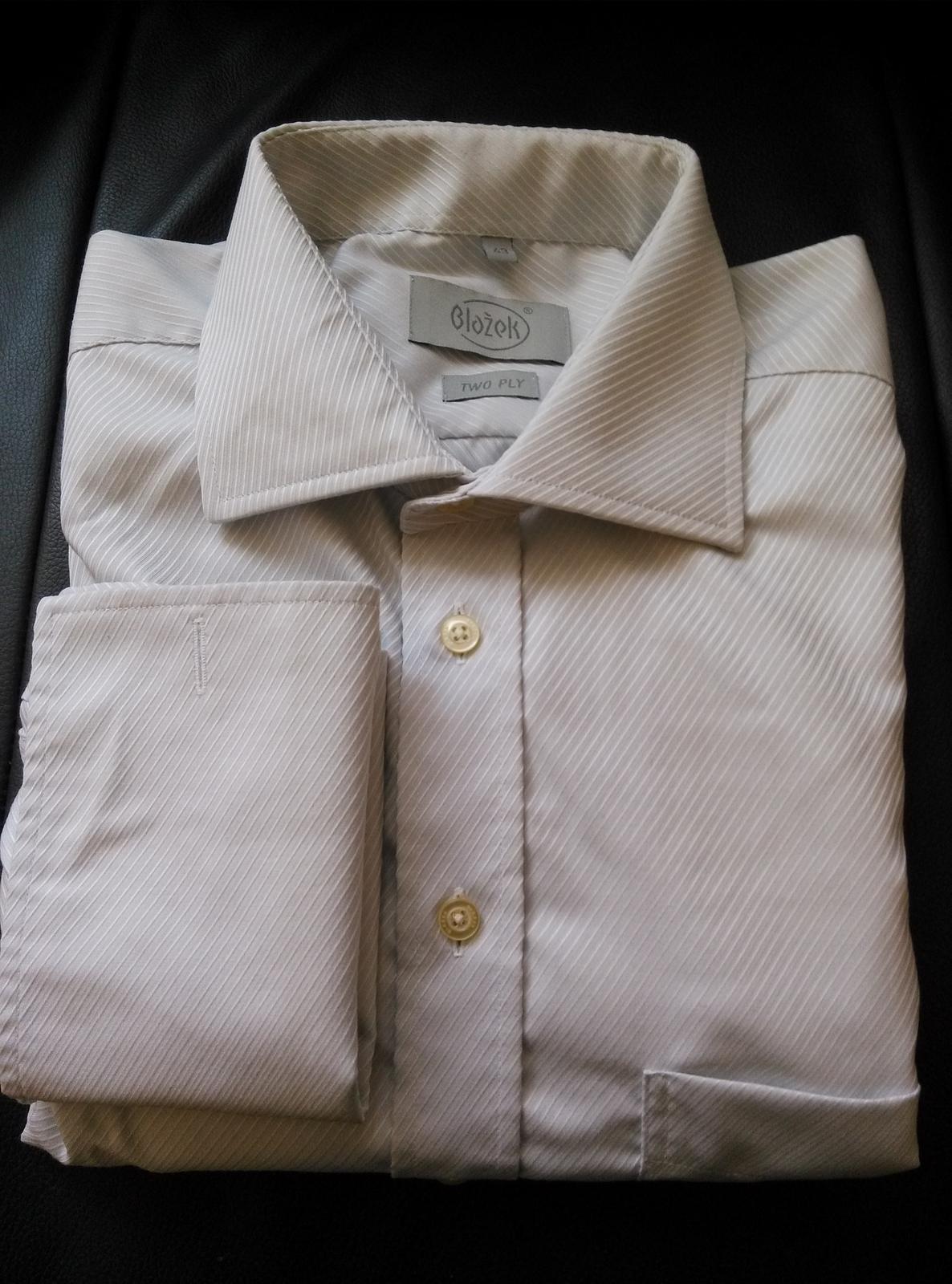 be133c670a1 Stříbrno-šedá košile blažek vel. 43