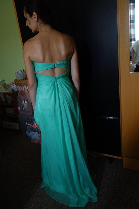 společenské mint dlouhé šaty, 38
