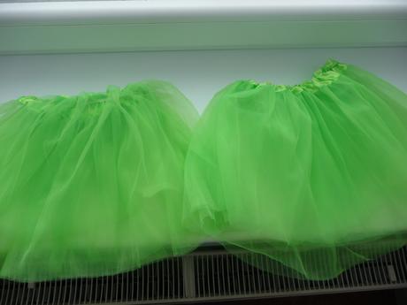 Zelené jablkové tutu sukýnky pro malé družičky,