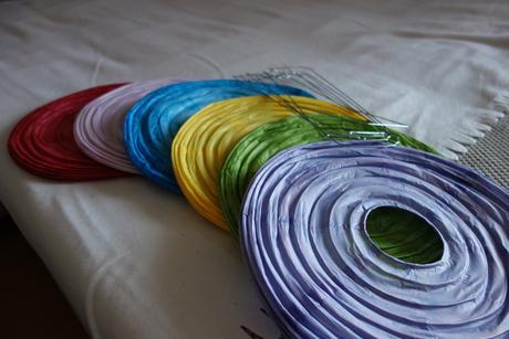 Lampiony  - různobarevné 6 ks,