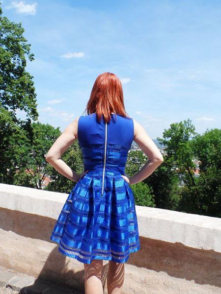 Modré šaty společenské, 38