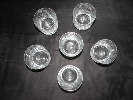 kryštálové poháre 6 kusov,