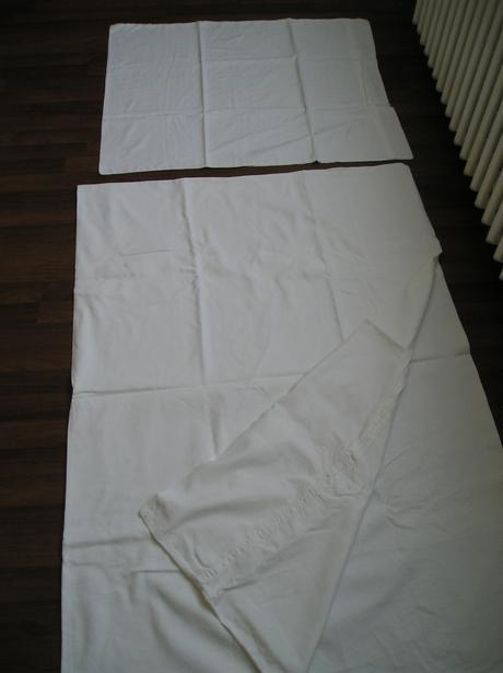 Biele obliečky na vankúš a perinu,