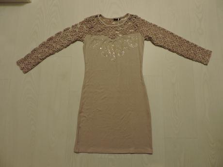Bledohnedé šaty štovným, M