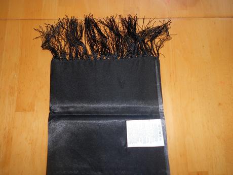 Čierna pašmína/štóla s poštovným, L