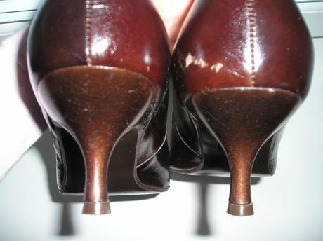 Čokoládovo-hnedé lodičky, 40
