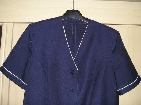 Elegantná tmavo-modrá blúzka s poštou, XL