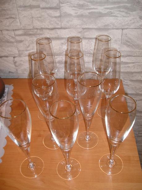 Poháre na šampanské 6 ks,