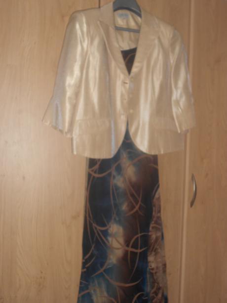 Šaty + kabátik s poštovným, 48